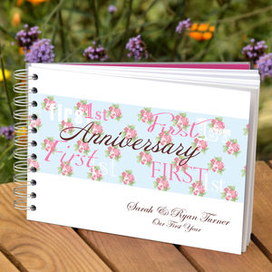 Personalised 1st Anniversary Book - albums & guest books