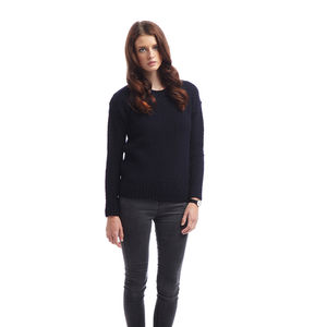 Women's Boat Neck Sweater - women's fashion