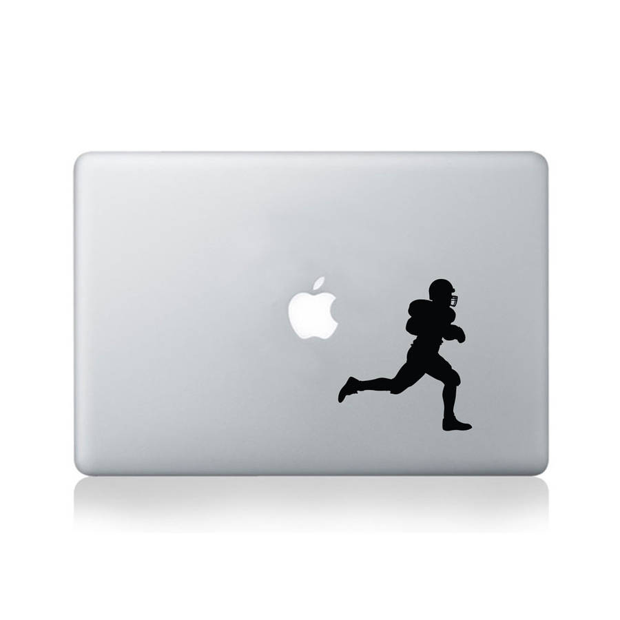 American Football Player Vinyl Decal For Macbook 13/15
