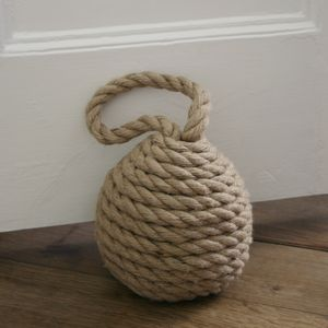 Heavy Jute Rope Door Stop