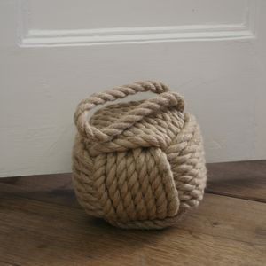 Heavy Jute Rope Door Stop - home accessories
