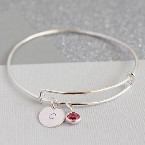Personalised Birthstone Bangle - gifts under £25