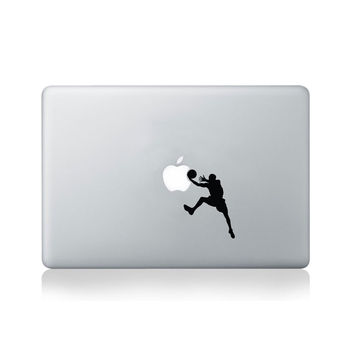 Basketball Player Layup Vinyl Decal For Macbook 13/15