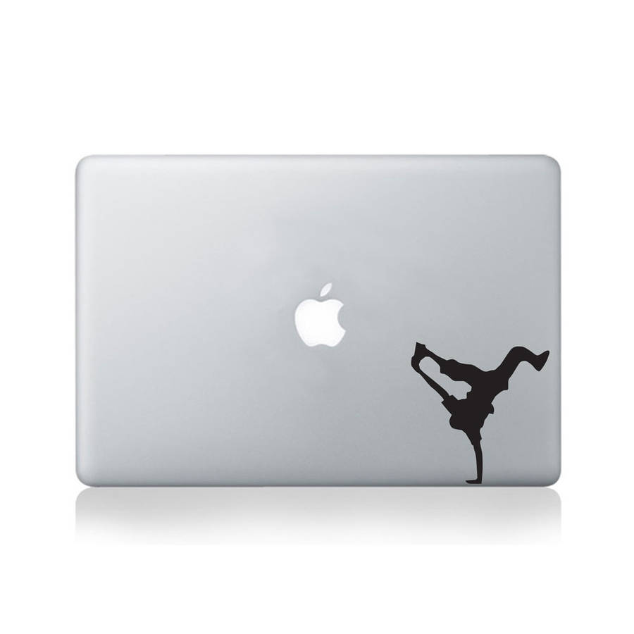 Break Dancer Pose Vinyl Decal For Macbook 13/15
