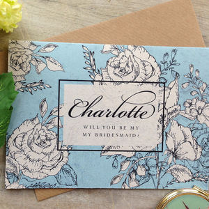 Floral 'Will You Be My Bridesmaid' Card - wedding stationery