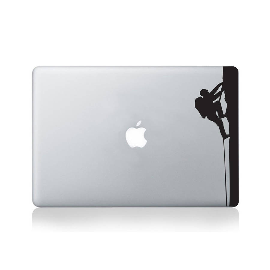 Climber Ascending Vinyl Decal For Macbook 13/15