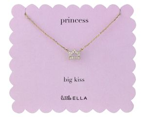 Princess Crown Charm Necklace - children's accessories