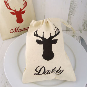 Personalised Mini Stag Bag - christmas parties & entertaining
