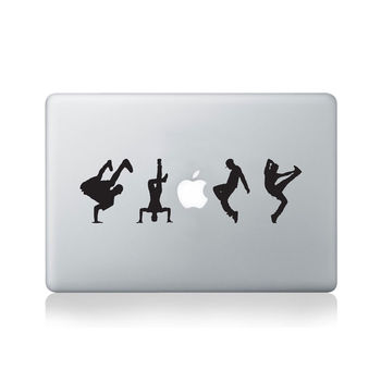 Hip Hop Dancers Vinyl Decal For Macbook 13/15 Or Laptop