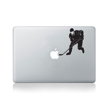 Hockey Player Vinyl Decal For Macbook 13/15 Or Laptop