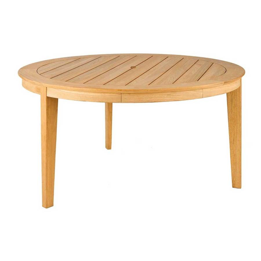 Roble round dining table in two sizes by out there for Dining table length