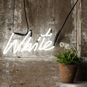 White Neon Word Light - view all decorations
