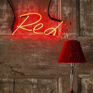 Red Neon Word Light