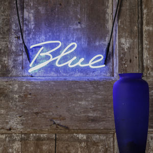 Blue Neon Word Light - lighting