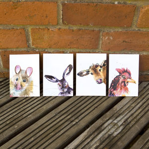 Inky Animal Postcard Set - summer sale
