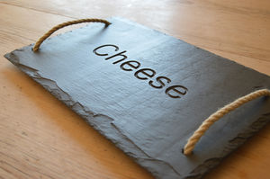 Cheese Engraved Slate Board - cheese boards & knives