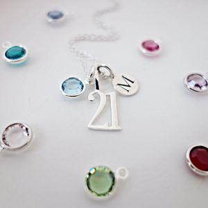 21st Birthday Birthstone Necklace