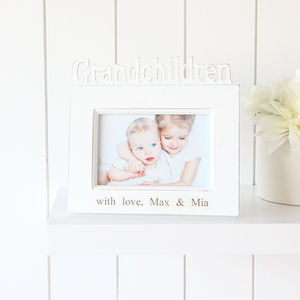 Personalised 'Grandchildren' Photo Frame - picture frames