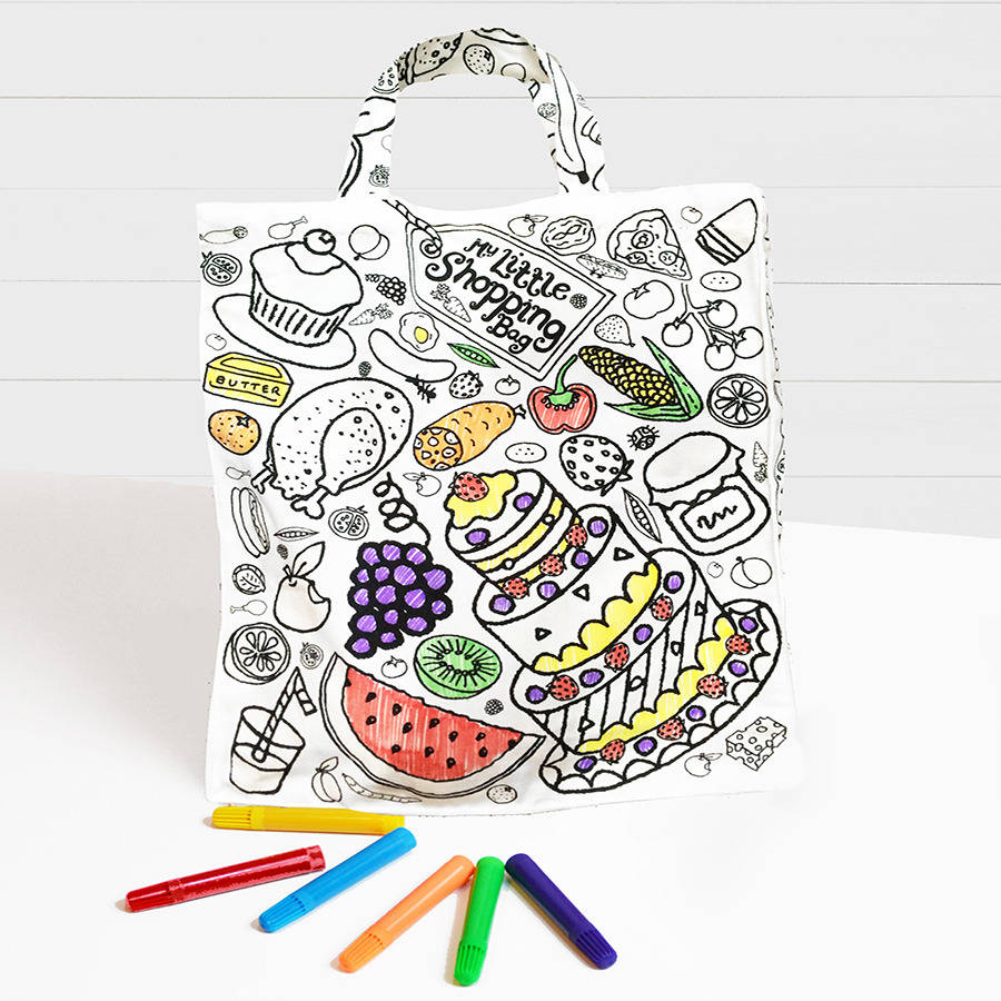 Eggnogg Ltd Colour In My Little Shopping Bag