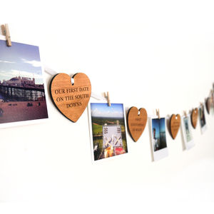 Personalised 'Our Story' Heart Garland
