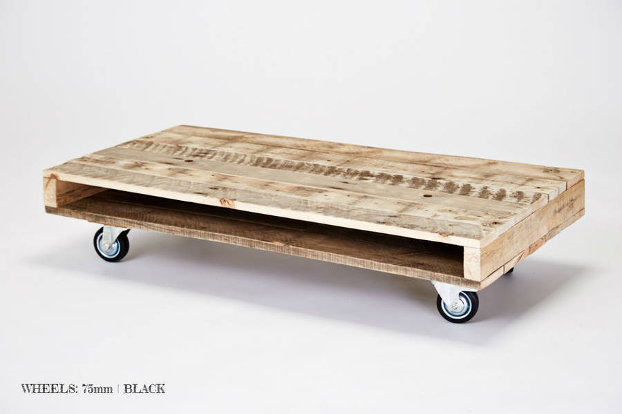 Pallet Wood Coffee Tables On Wheels