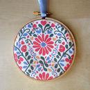 Flower Fabric Hoop