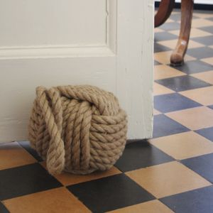 Heavy Jute Rope Door Stop - office & study