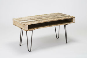 Pallet Coffee Table With Hairpin Legs - furniture