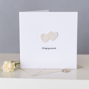 Double Heart Keepsake Engagement Card