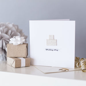 Personalised Keepsake Wedding Cake Card - wedding cards