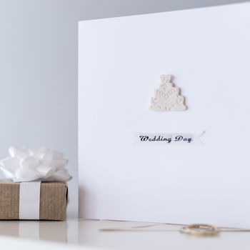 Keepsake Ceramic Wedding Cake Card