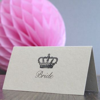 Personalised Crown Place Cards