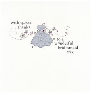 Sparkly Bridesmaid Thank You Card - new in wedding styling