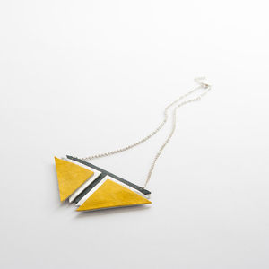 'Sebastian' Geometric Statement Necklace