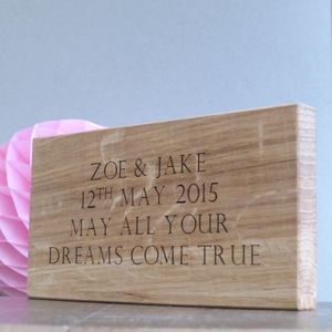 Personalised Oak Vintage Style Wedding Sign