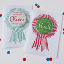 Page Boy Thank You Card With Badge