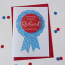 Usher Thank You Card With Badge