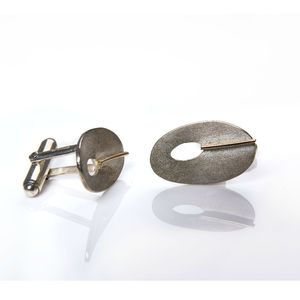 Douglas Silver And Gold Cufflink's