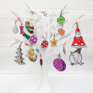 Colour In Christmas 3D Decs - christmas decorations