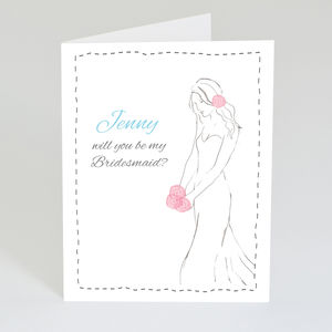 Personalised 'Will You Be My Bridesmaid?' Card