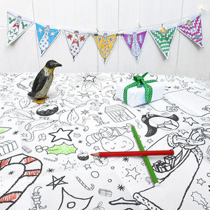 Colour In Tablecloth Christmas Choice Of Two - christmas parties & entertaining