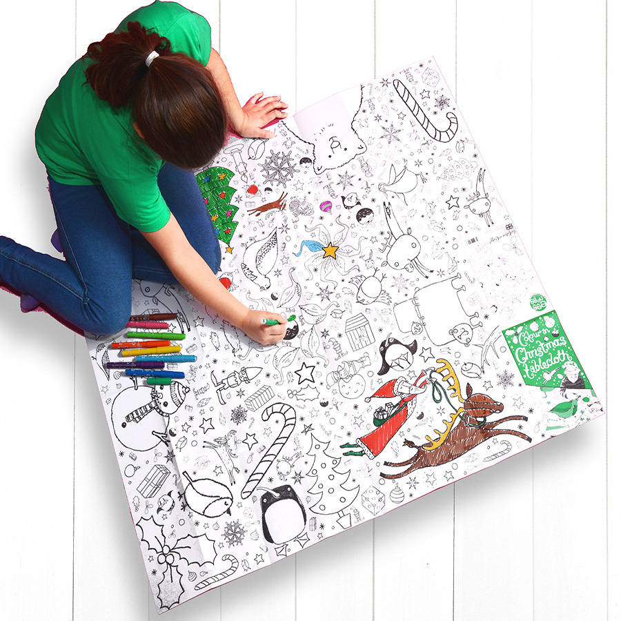 colour in tablecloth christmas personalise it option