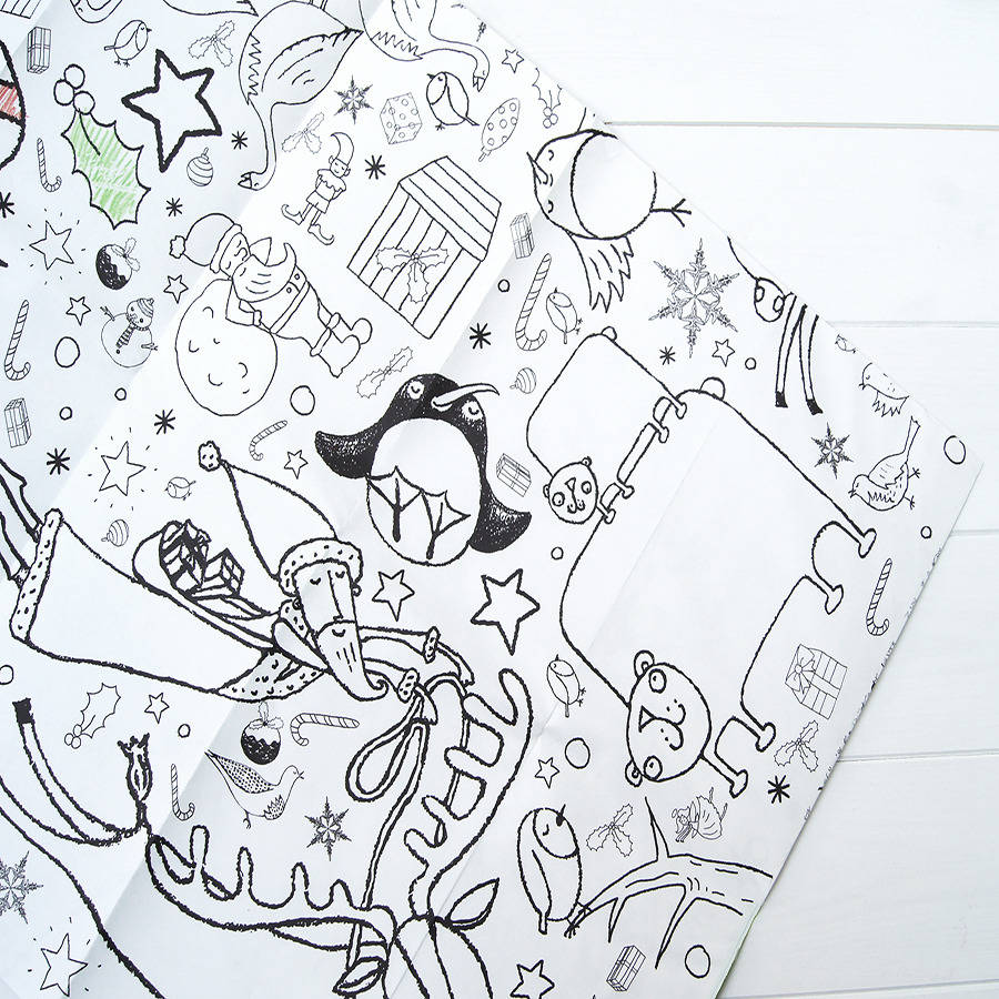 Colour In Poster Tablecloth Christmas Personalise It