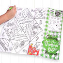 Colour In Placemat Fortune Teller X Two
