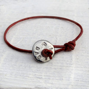 Personalised Pewter Button Bracelet - bracelets
