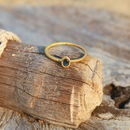 18ct Gold Ring With Sapphire
