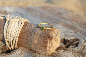 18ct Gold Ring With Emerald - may birthstone