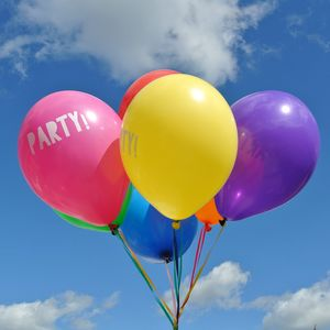 Party Printed Rainbow Balloon Set - new in baby & child