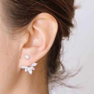 Sparkle Swing Earrings - rose gold jewellery