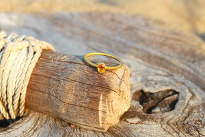 18ct Gold Ring With Citrine - rings
